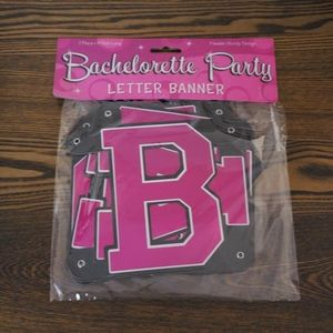 Bachellorette Party Letter Banner